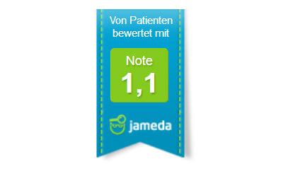 jameda Empfehlung für Zahnarztpraxis Zimny Berlin