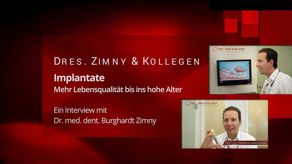 Video Interview: Zahnimplantate -  Mehr Lebensqualität bis ins hohe Alter